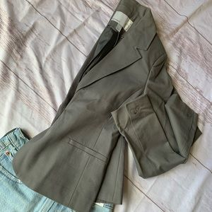 OLD NAVY BLAZER GRAY DOUBLE BREASTED CAREER JACKET